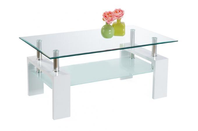 Table basse pieds en bois blanche table basse pas cher for Table basse blanche pied bois
