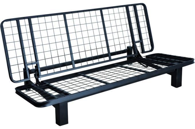banquette lit structure noire sans matelas en acier. Black Bedroom Furniture Sets. Home Design Ideas