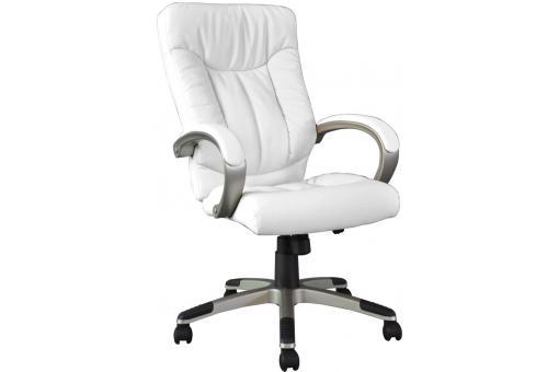 Fauteuil de bureau blanc simili cuir fauteuil chaise - Fauteuil de bureau blanc pas cher ...