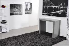 Console extensible grise 225cm mat BROADWAY - Table console design