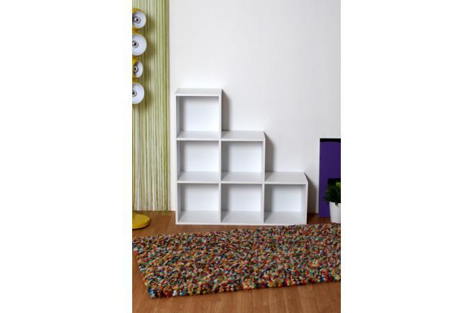 escalier 6 cases blanc meuble de rangement blanc