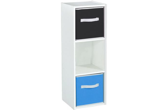 Rangement 3 cases blanc meuble de rangement pas cher for Meuble 8 cases pas cher