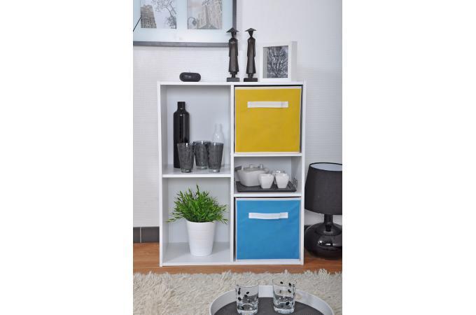 rangement 4 cases 1 tablette blanc meuble de rangement pas cher. Black Bedroom Furniture Sets. Home Design Ideas