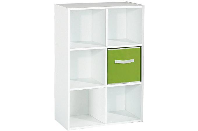 rangement 6 cases blanc meuble de rangement pas cher. Black Bedroom Furniture Sets. Home Design Ideas