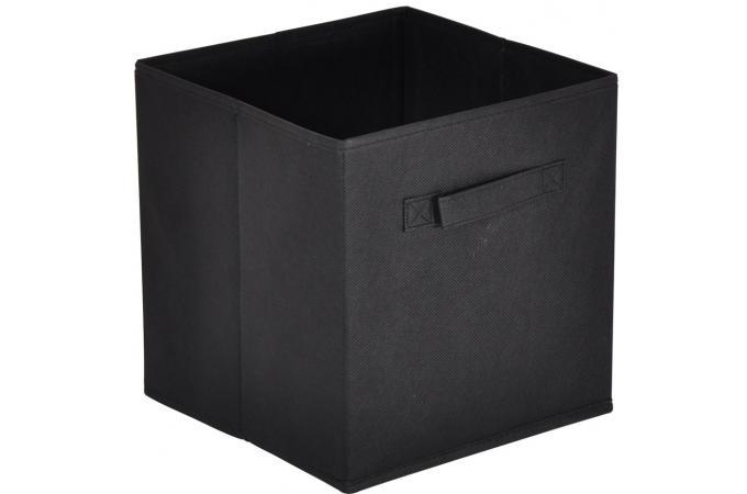 lot de 10 paniers tiroir tissu noir bac de rangement pas. Black Bedroom Furniture Sets. Home Design Ideas