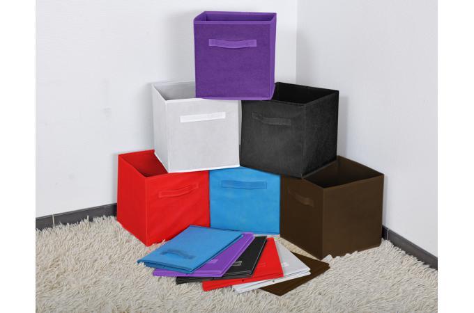 panier tiroir tissu chocolat lot de 10 bac de rangement pas cher. Black Bedroom Furniture Sets. Home Design Ideas