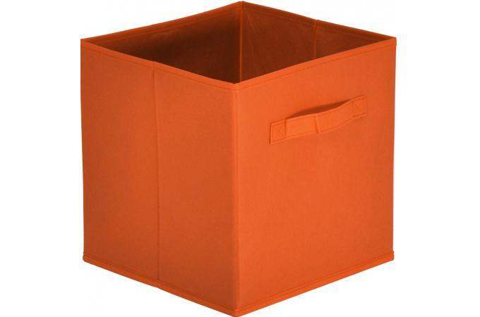 lot de 10 paniers tiroir tissu orange bac de rangement pas cher. Black Bedroom Furniture Sets. Home Design Ideas