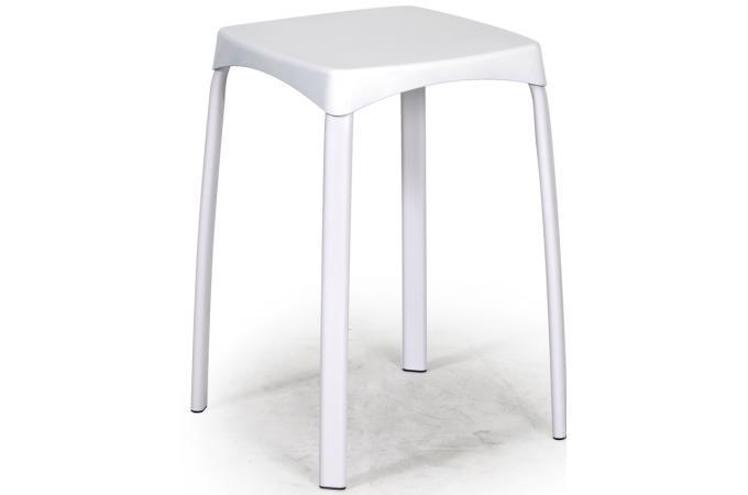 lot de 6 tabourets m tal blanc petit tabouret pas cher. Black Bedroom Furniture Sets. Home Design Ideas