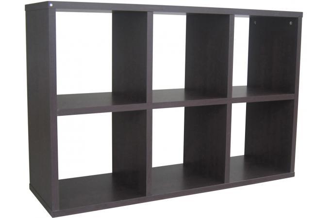 rangement 6 cases d cor wengu meuble de rangement pas cher. Black Bedroom Furniture Sets. Home Design Ideas