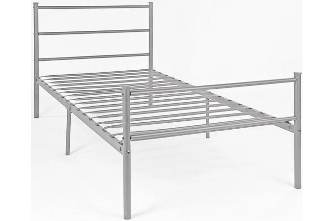 lit en 90x190cm avec sommier argent lit enfant pas cher. Black Bedroom Furniture Sets. Home Design Ideas