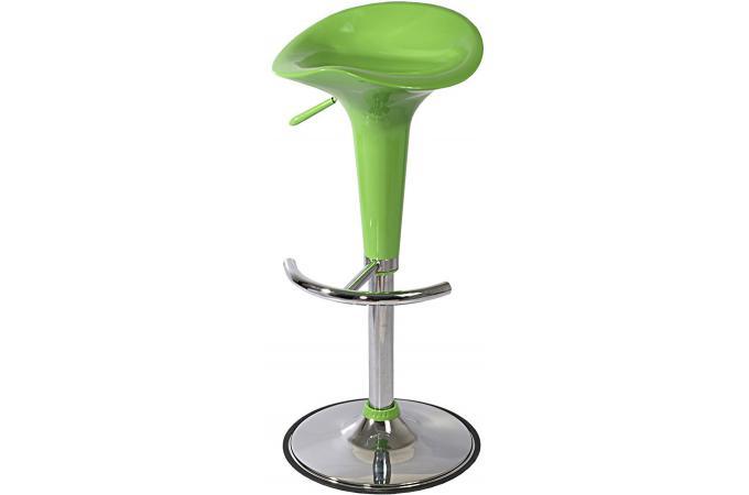 Tabouret r haussable chrome vert tabouret de bar pas cher - Tabouret bar exterieur pas cher ...
