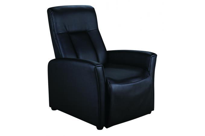 fauteuil relax m canique simili noir rilax fauteuil design pas cher. Black Bedroom Furniture Sets. Home Design Ideas