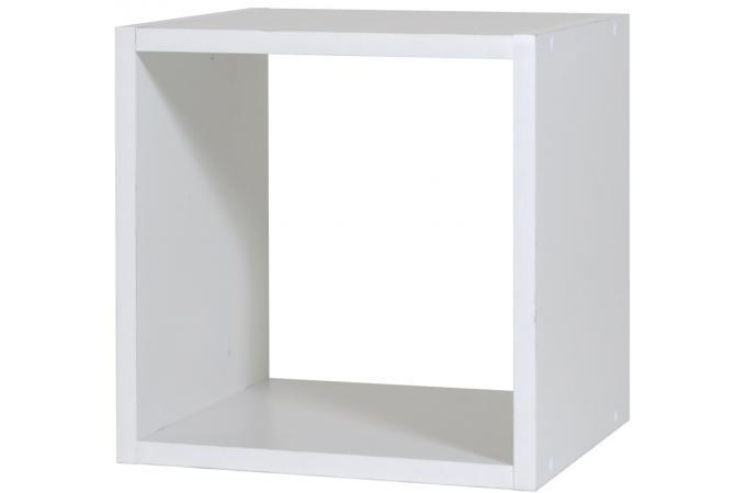 Rangement 1 case petit mod le blanc meuble de rangement for Petit meuble rangement blanc