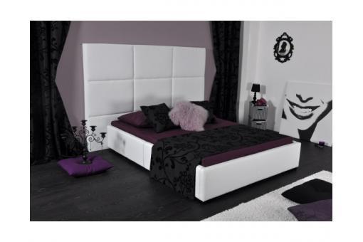 lit en 160x200cm simili cuir blanc lit design pas cher. Black Bedroom Furniture Sets. Home Design Ideas