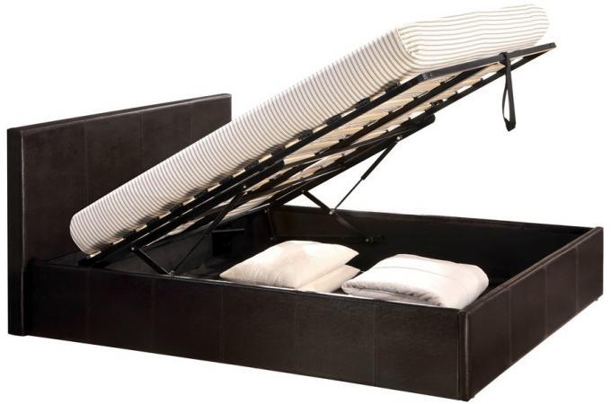 Lit coffre 160x200 chocolat avec sommier lit design pas cher - Lit coffre 180x200 pas cher ...