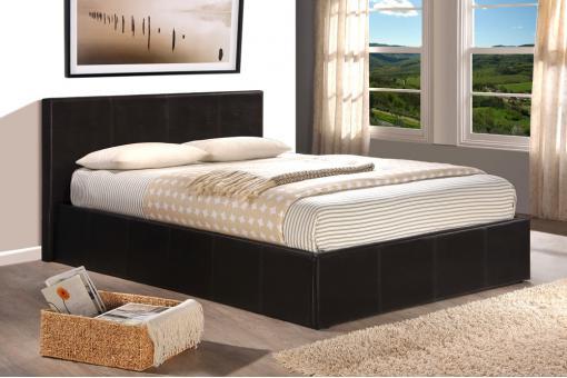 lit coffre 160x200 chocolat avec sommier lit design pas cher. Black Bedroom Furniture Sets. Home Design Ideas