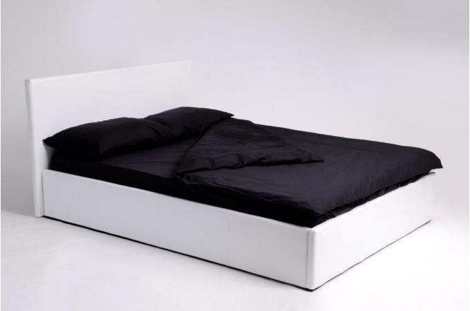 Lit coffre 140x190 blanc avec sommier lit design pas cher - Lit 140x190 pas cher ...