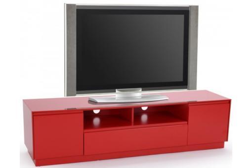 meuble tv soho rouge meuble tv pas cher. Black Bedroom Furniture Sets. Home Design Ideas
