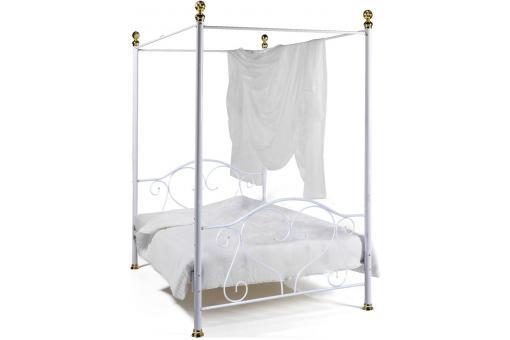 baldaquin en 140x190 blanc lit design pas cher. Black Bedroom Furniture Sets. Home Design Ideas