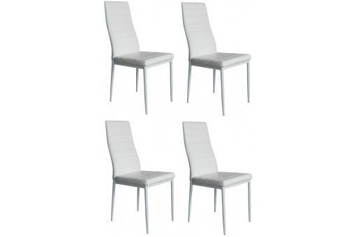 lot de 4 chaises blanches nina chaise design pas cher. Black Bedroom Furniture Sets. Home Design Ideas