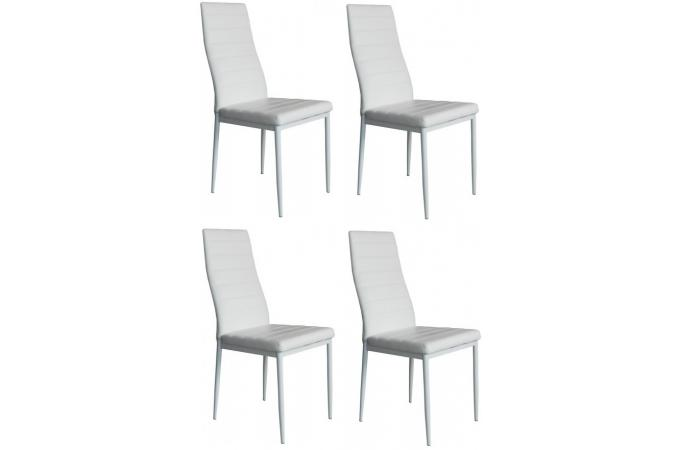 lot de 4 chaises blanches nina chaise design pas cher. Black Bedroom Furniture Sets. Home Design Ideas