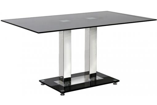 Table de s jour verre noir deco design - Table de sejour design ...