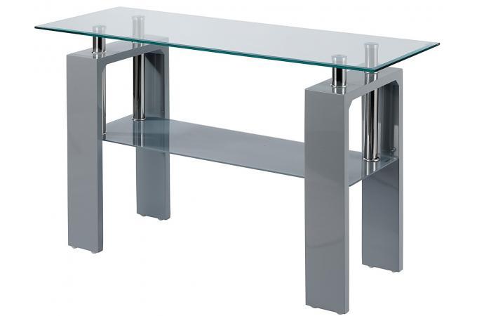 console grise en verre tamiko table console pas cher. Black Bedroom Furniture Sets. Home Design Ideas