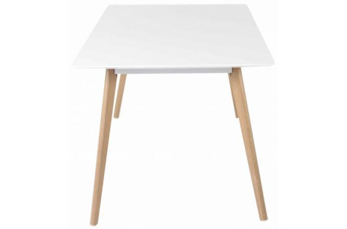 table de repas gm blanche plaqu bois t odora table. Black Bedroom Furniture Sets. Home Design Ideas