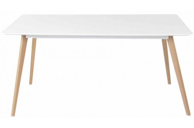Table de repas gm blanche plaqu bois t odora table - Table blanche bois ...