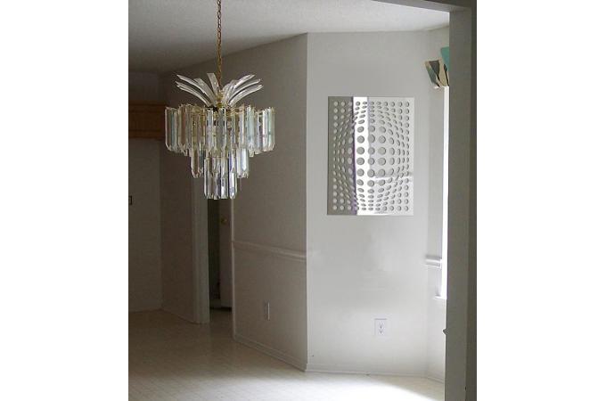 Miroir illusion gm argent en verre uriel 75 x 104 cm for Miroir argente rectangulaire