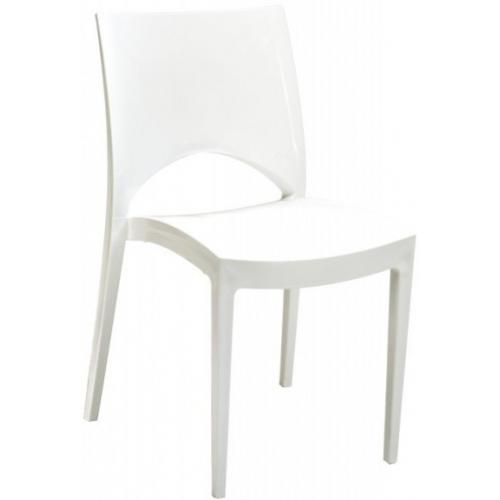 Chaise Design Blanche VENISE - Salle a manger moderne