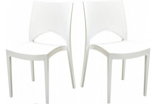 lot de 2 chaises design blanches venise chaise design pas cher. Black Bedroom Furniture Sets. Home Design Ideas
