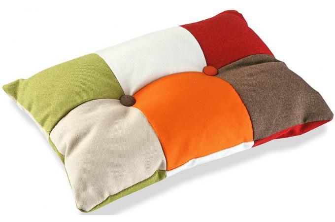 Coussin rectangulaire multicolore en coton m lodie - Coussin pas cher deco ...