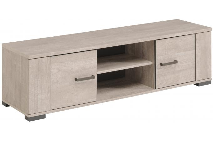 Meuble tv ch ne gris plaqu bois cannes meuble tv pas cher for Meuble tv gris bois