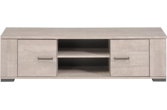 Meuble tv ch ne gris plaqu bois cannes meuble tv pas cher for Meuble tv gris et bois