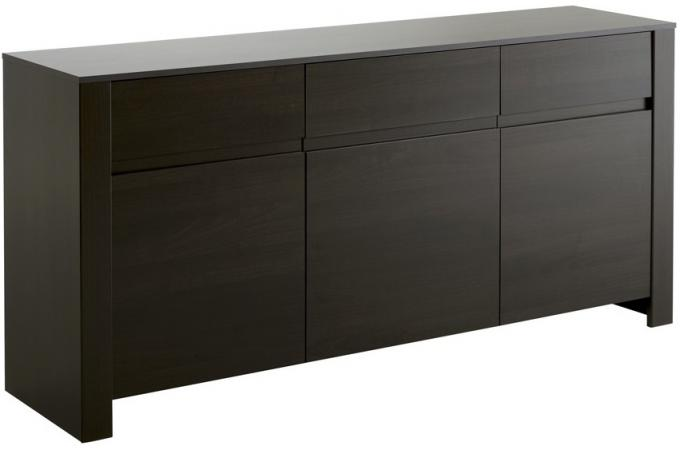 buffet 3 portes plaqu bois azteca buffet pas cher. Black Bedroom Furniture Sets. Home Design Ideas