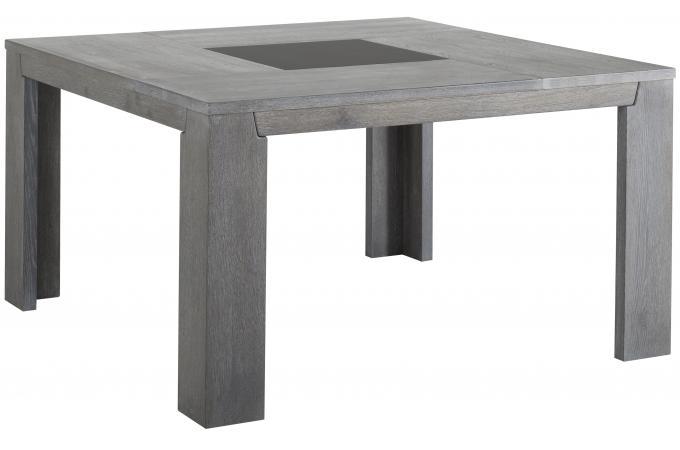 Table de repas carr e plaqu bois sidney table manger for Table a manger carree pas cher