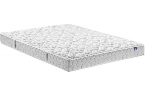 matelas 160 x 200 blanc en polyester m rinos aloria matelas pas cher. Black Bedroom Furniture Sets. Home Design Ideas