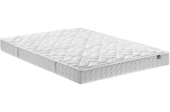 matelas 160 x 200 blanc en polyester m rinos aloria. Black Bedroom Furniture Sets. Home Design Ideas