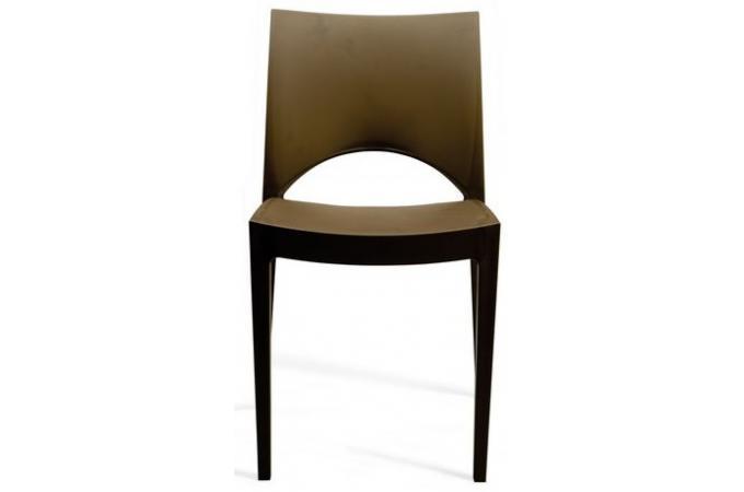 Chaise design marron venise chaise design pas cher for Chaise marron pas cher