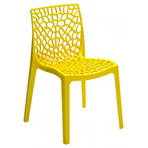 Chaise Design Jaune GRUYER - Promotions Declikdeco