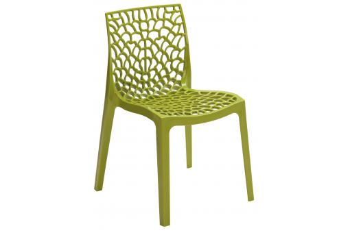 Chaise Design Verte Anis GRUYER - 3s x home