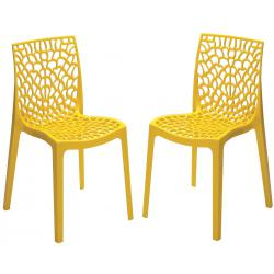 Lot de 2 Chaises Design Jaune Perle GRUYER