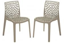 Chaise Design Lot de 2 chaises design grise brillant Gruyer Opaque, deco design