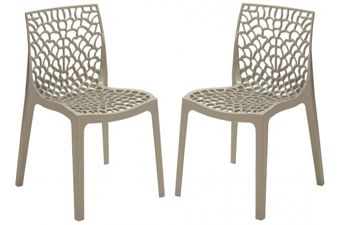 Lot de 2 chaises design grises gruyer chaise design pas cher - Chaises design grises ...