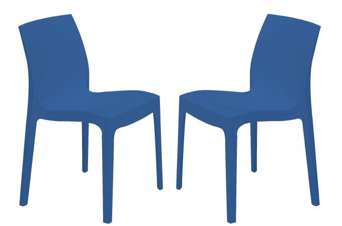 lot de 2 chaises design bleues istanbul chaise design pas cher. Black Bedroom Furniture Sets. Home Design Ideas