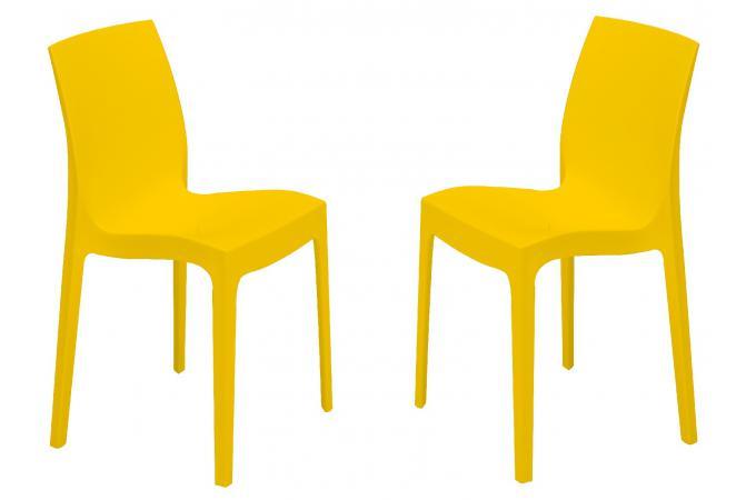 lot de 2 chaises design jaunes istanbul chaise design pas cher. Black Bedroom Furniture Sets. Home Design Ideas