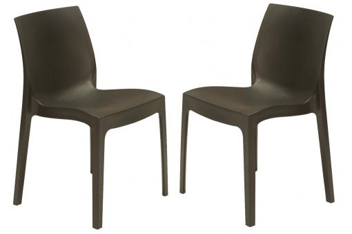 Lot de 2 chaises design gris anthracite ISTANBUL