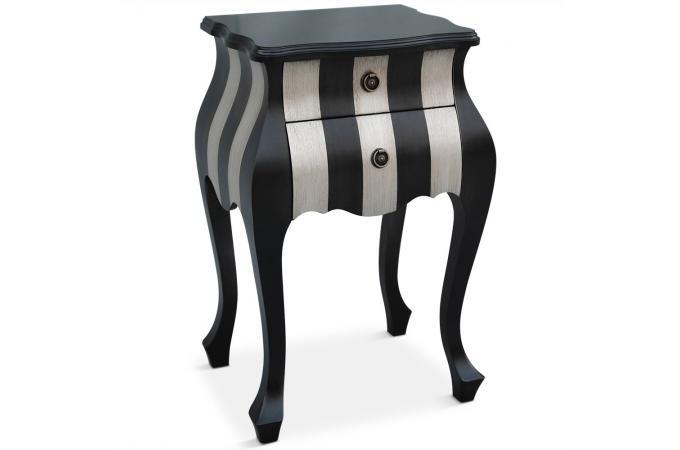 table de chevet bicolore zadig table de chevet pas cher. Black Bedroom Furniture Sets. Home Design Ideas