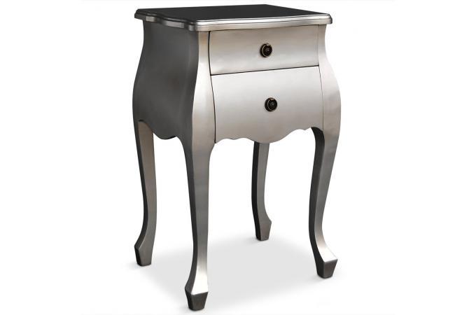 table de chevet argent e zadig table de chevet pas cher. Black Bedroom Furniture Sets. Home Design Ideas